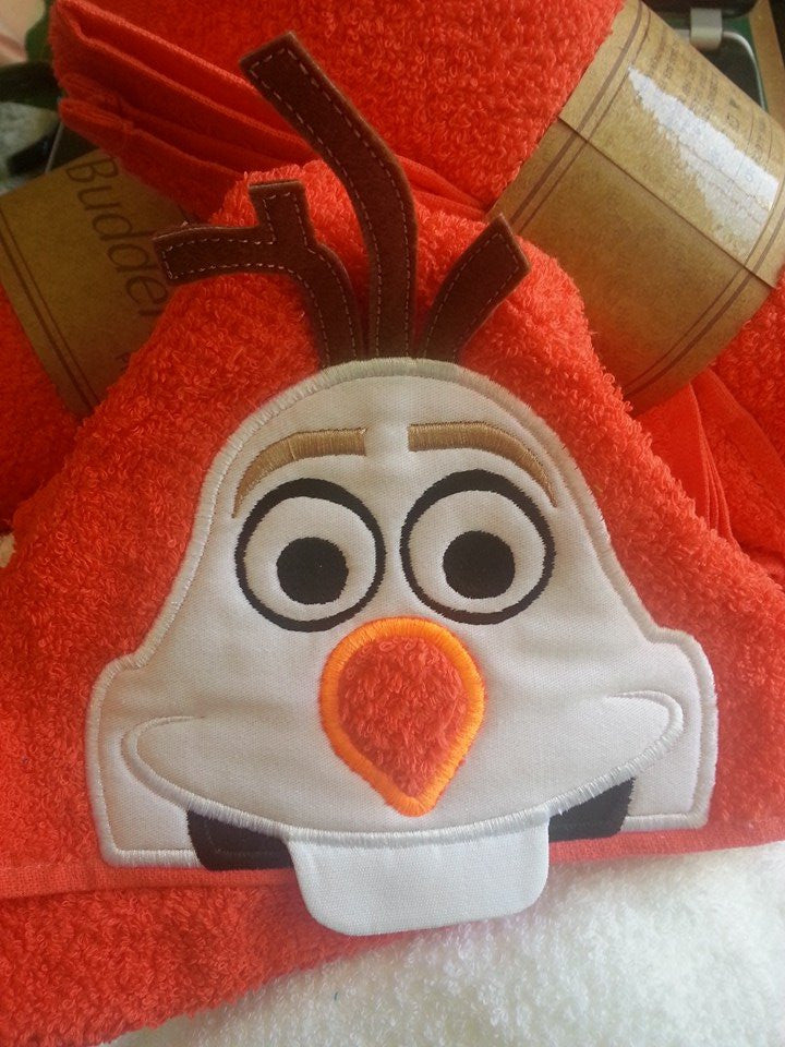 5x7 OLAF SNOWMAN HEAD FOR HOODED TOWEL
