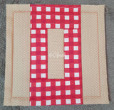 ITH LETTER O QUILT BLOCK