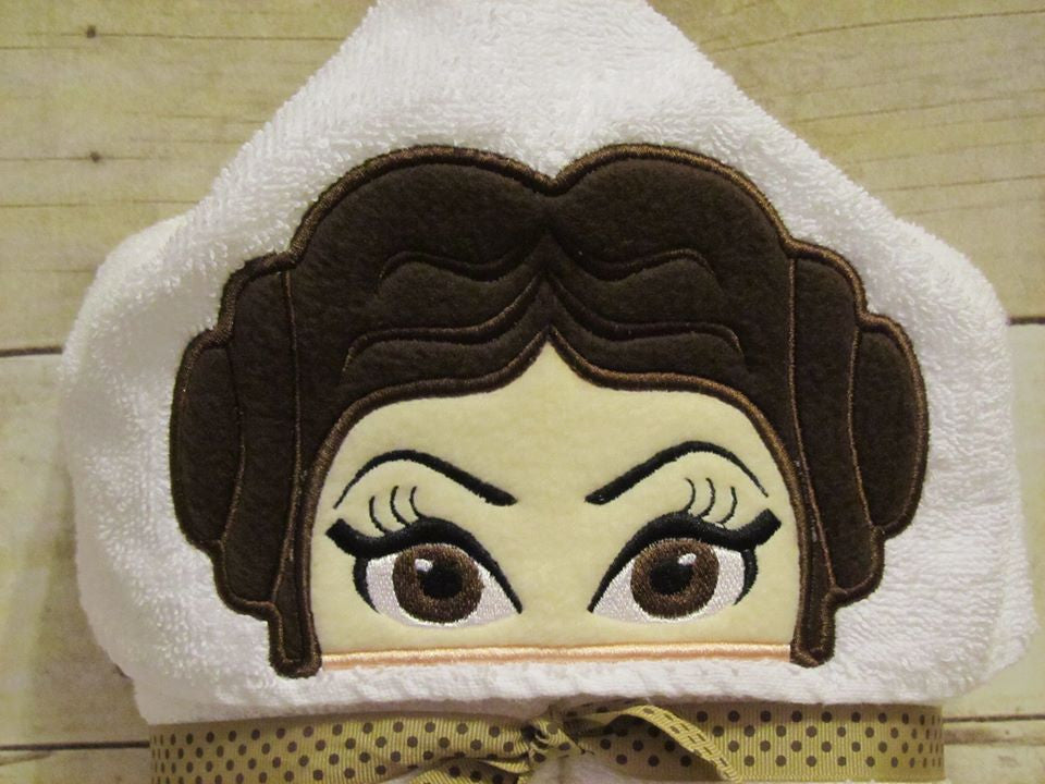 5x7 PRINCESS LEAH HEAD FOR HOODED TOWEL