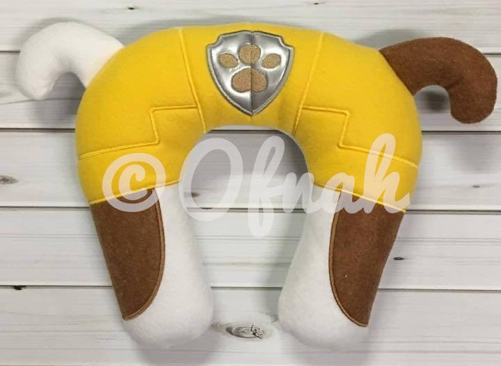 6X10 & 8X12 BULLDOG PUPPY NECK PILLOW