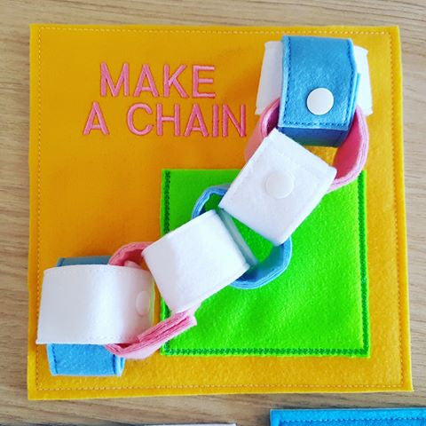 6x6 & 8X8 MAKE A CHAIN QUIET BOOK PAGE