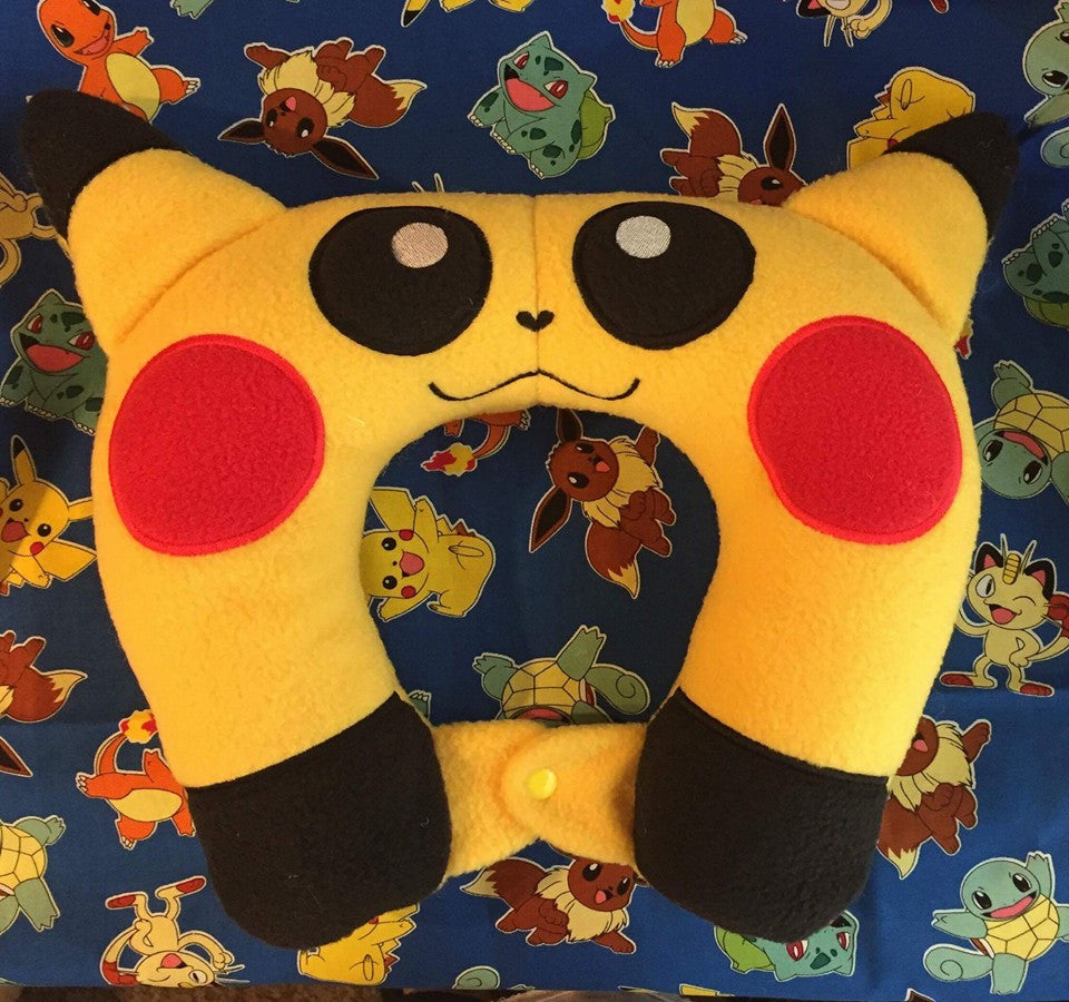 8X12 PIKACHU POKEMON NECK PILLOW