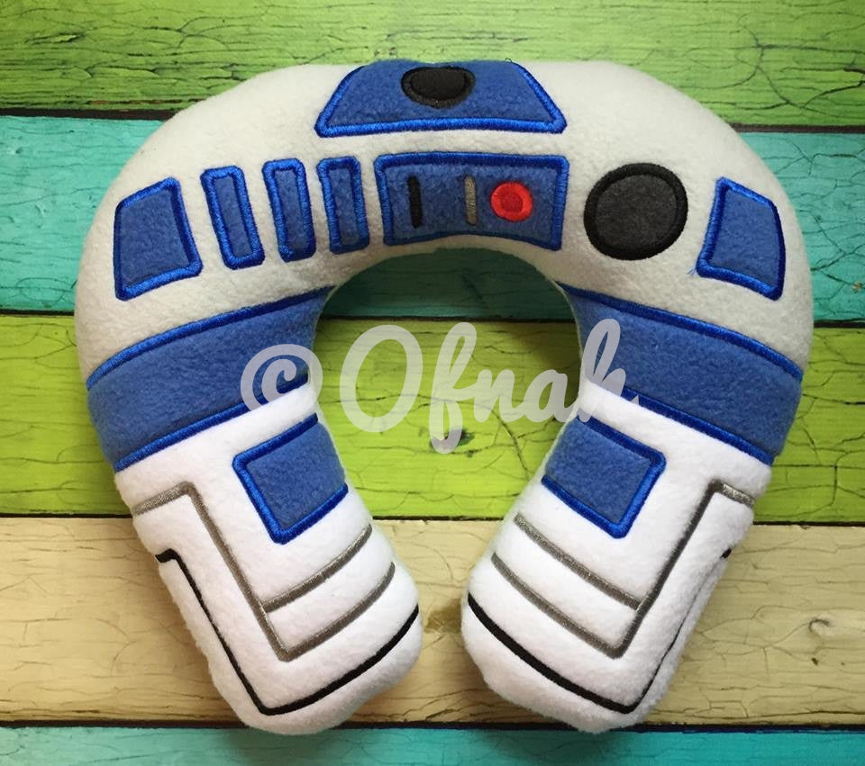 6X10 & 8X12 R2D2 INSPIRED NECK PILLOW