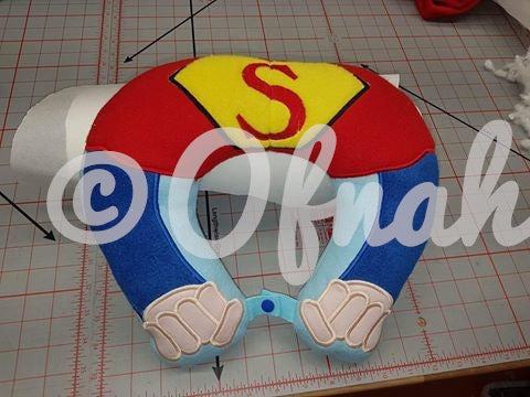 6X10 AND 8X12 SUPER HERO NECK PILLOW