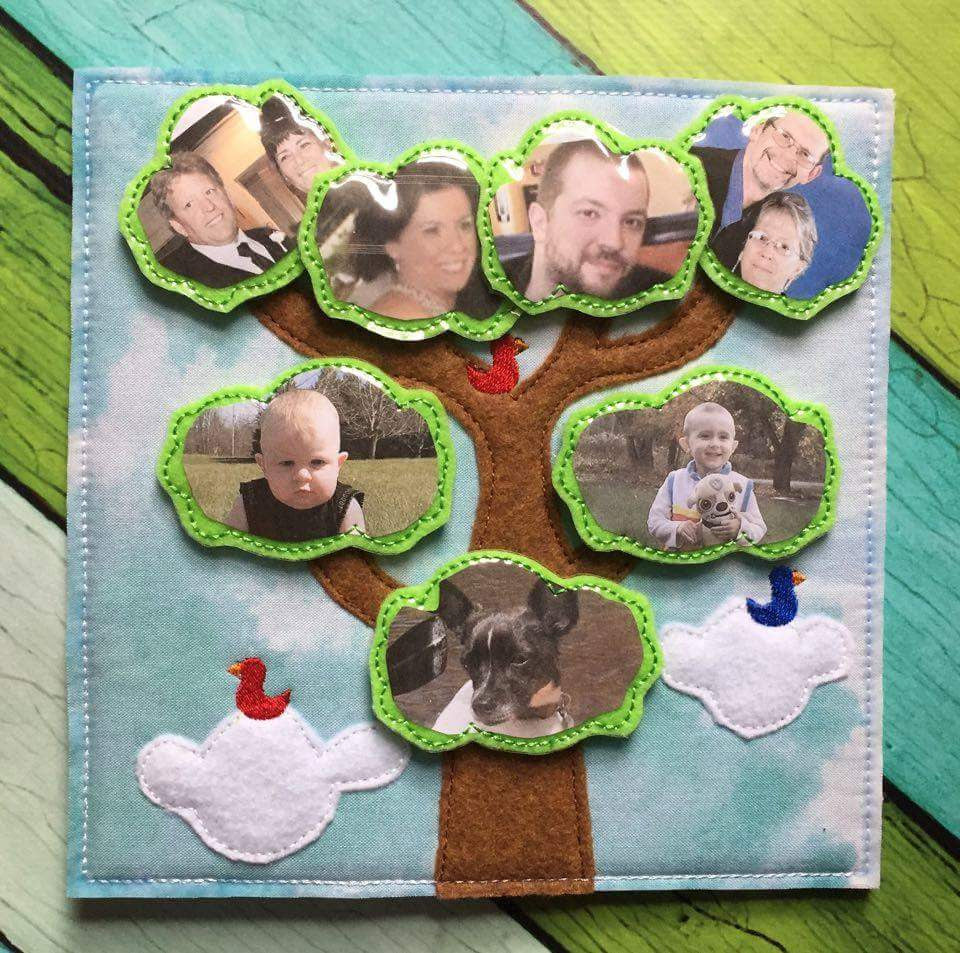 6X6 & 8X8 FAMILY TREE ITH QUIET BOOK PAGE