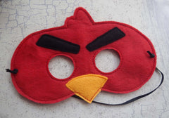 5x7 ANGRY BIRDO HALF MASK PATTERN (RED)