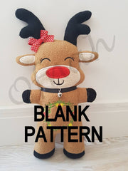 ITH BLANK REINDEER PLUSHIE PATTERN