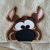 5x7 SCOOBY DOG HEAD FOR HOODED TOWEL