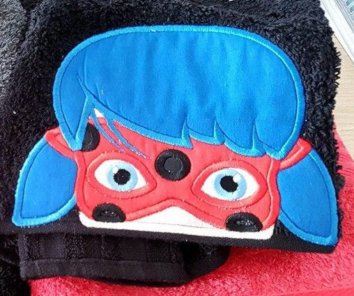 LADYBUG HERO GIRL HEAD FOR HOODED TOWEL