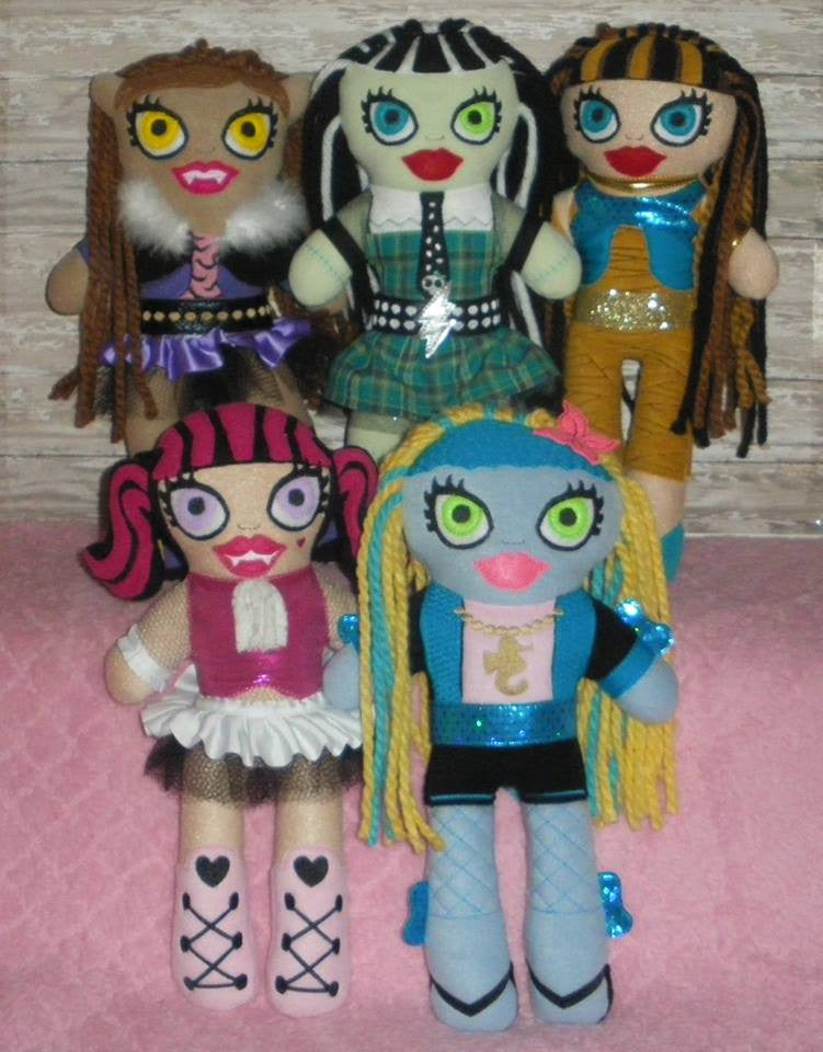MONSTER HIGH DOLL PATTERN SET