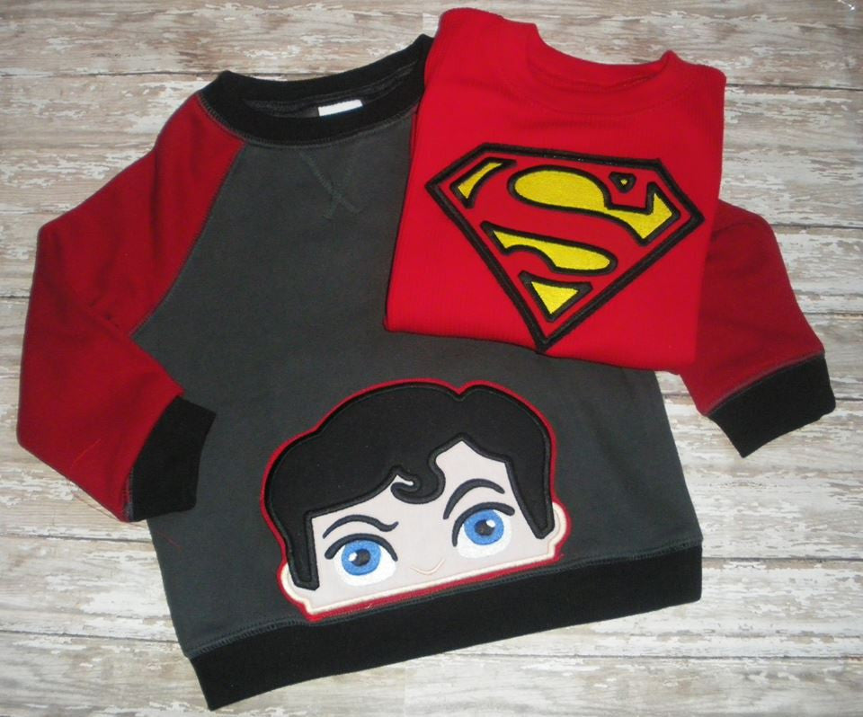 5X7 SUPERMAN HEAD FOR HOODED TOWEL