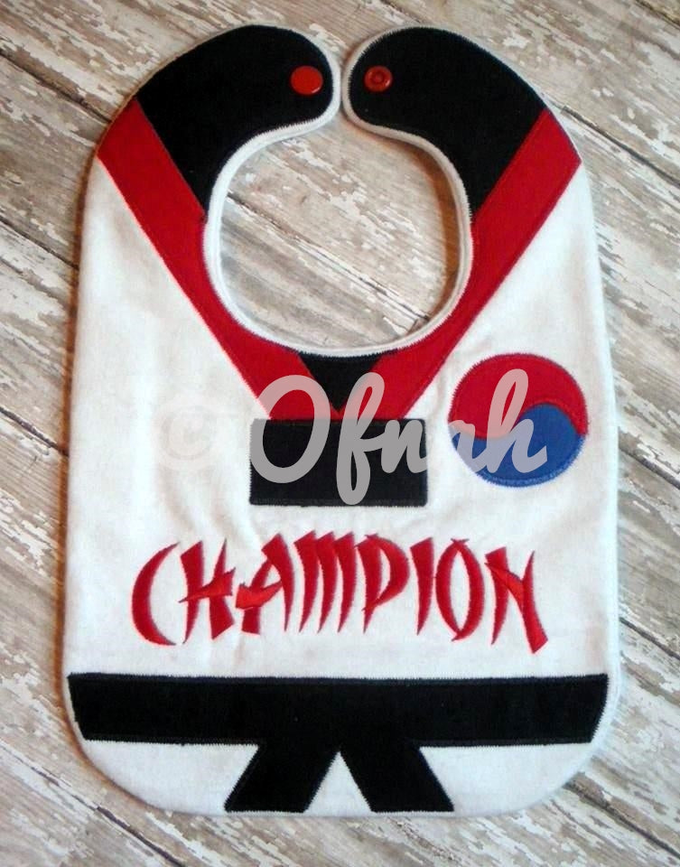 TAE-KWON-DO CHAMPION BIB