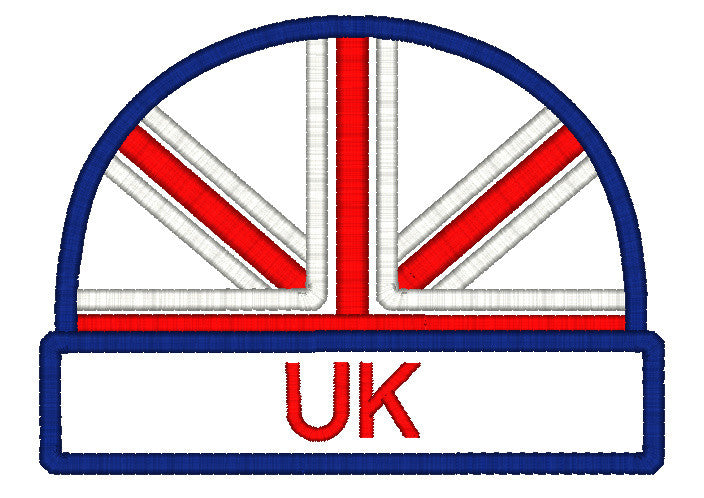 5x7 UK BEANIE APPLIQUE