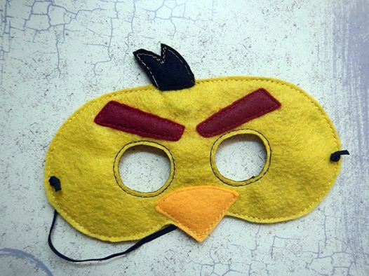 5x7 ANGRY BIRDO HALF MASK PATTERN (YELLOW)