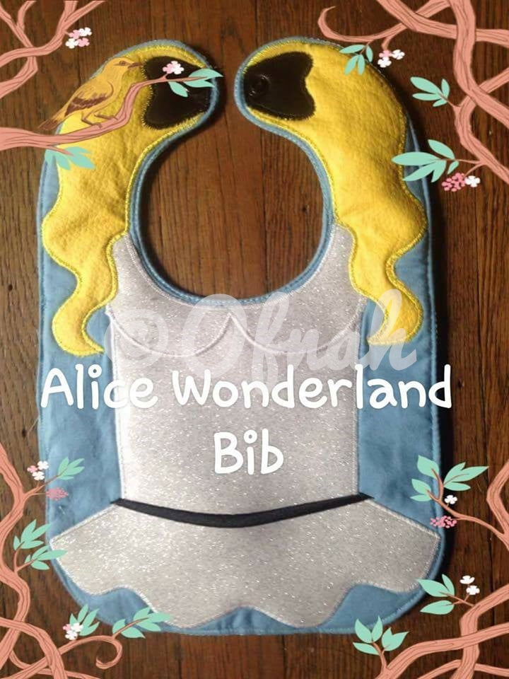 ALICE WONDERLAND INSPIRED BIB