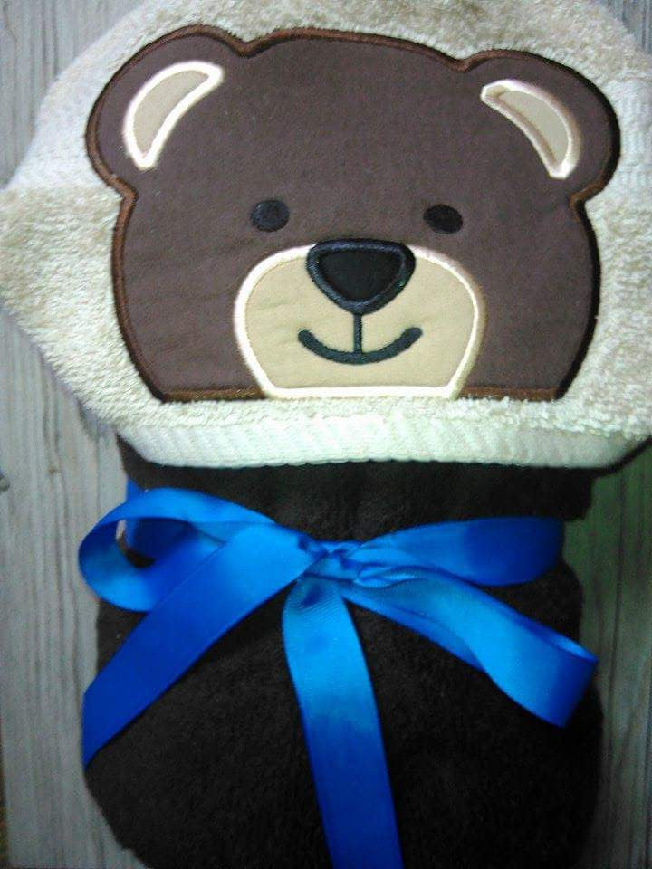 5X7 BEAR HEAD FOR HOODED TOWEL