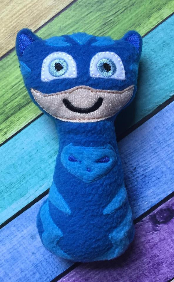 BLUE CAT HERO BOY RATTLE PATTERN