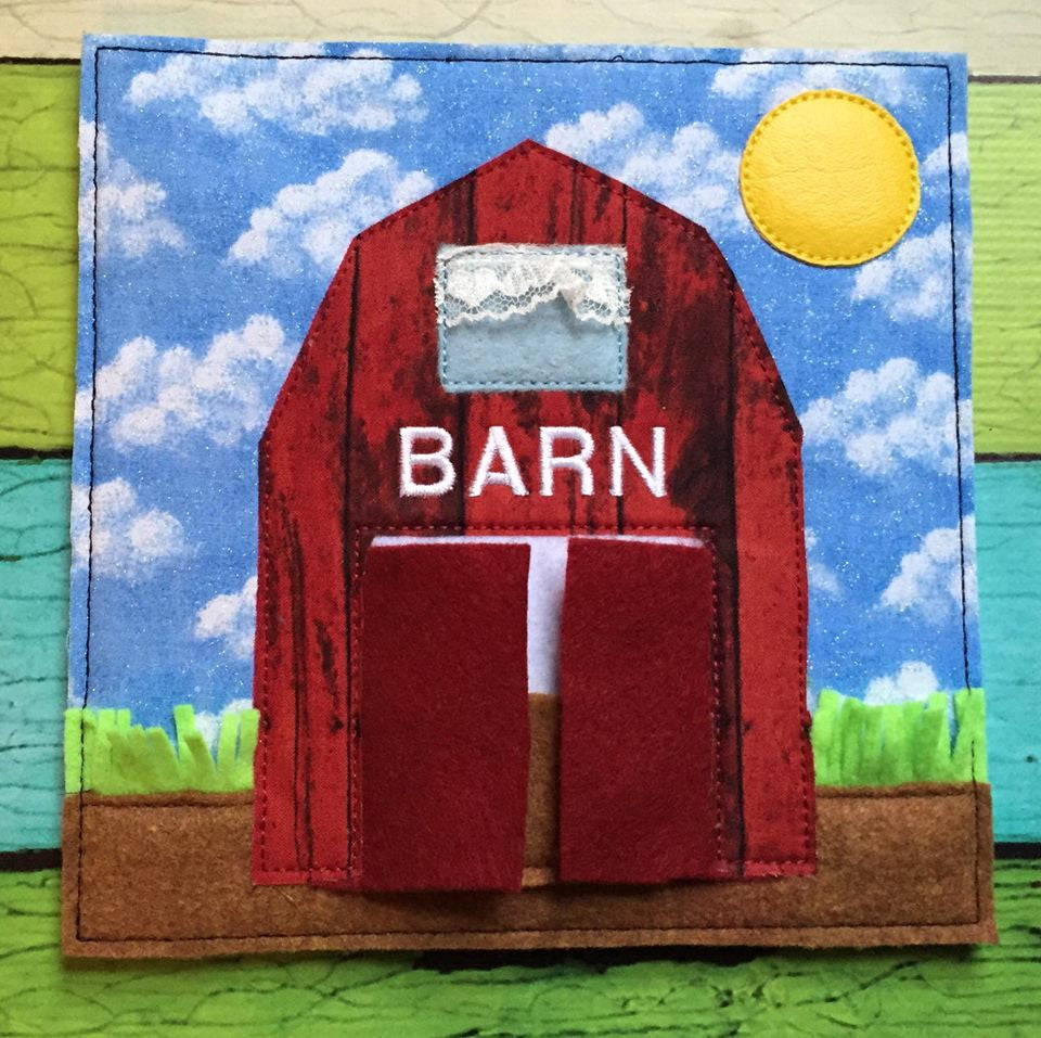 6X6 & 8X8 BARN ITH QUIET BOOK PAGE