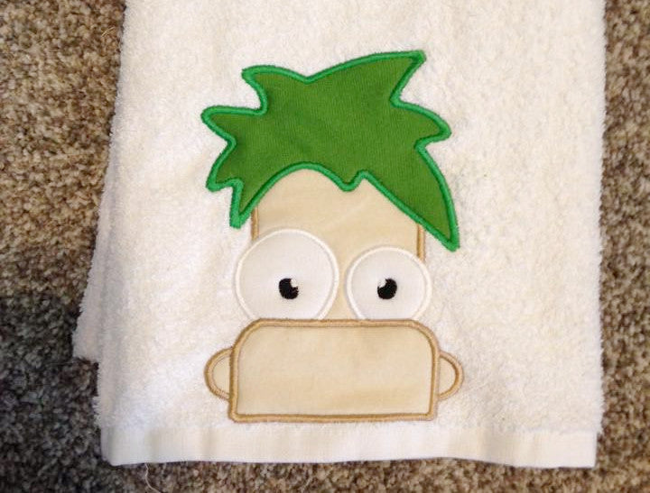 FERB HEAD FOR HOODED TOWEL