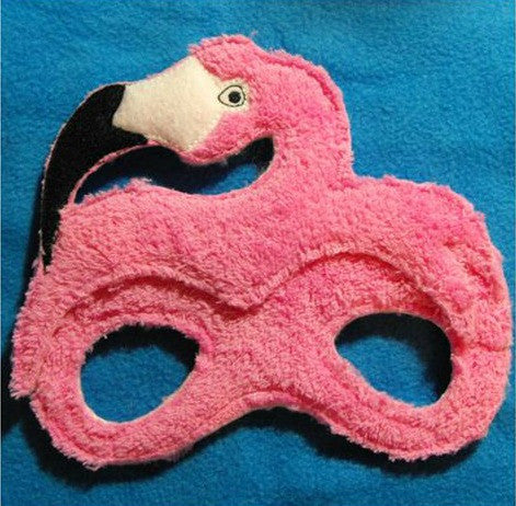 5x7 FLAMINGO BIRD MASK PATTERN (PINK)