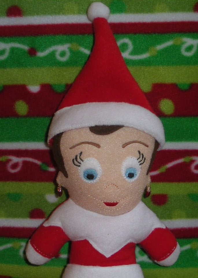 FEMALE SITTING ELF DOLL PATTERN