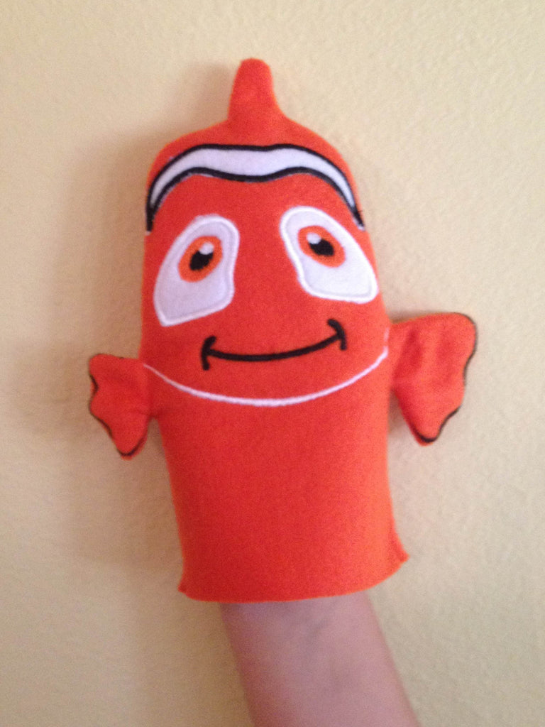 6X10 NEMO CLOWN FISH BATH MITTEN