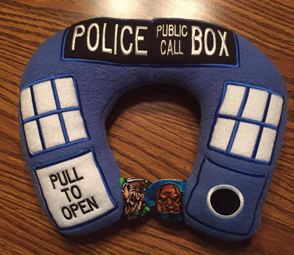 6X10 AND 8X12 TARDIS NECK PILLOW