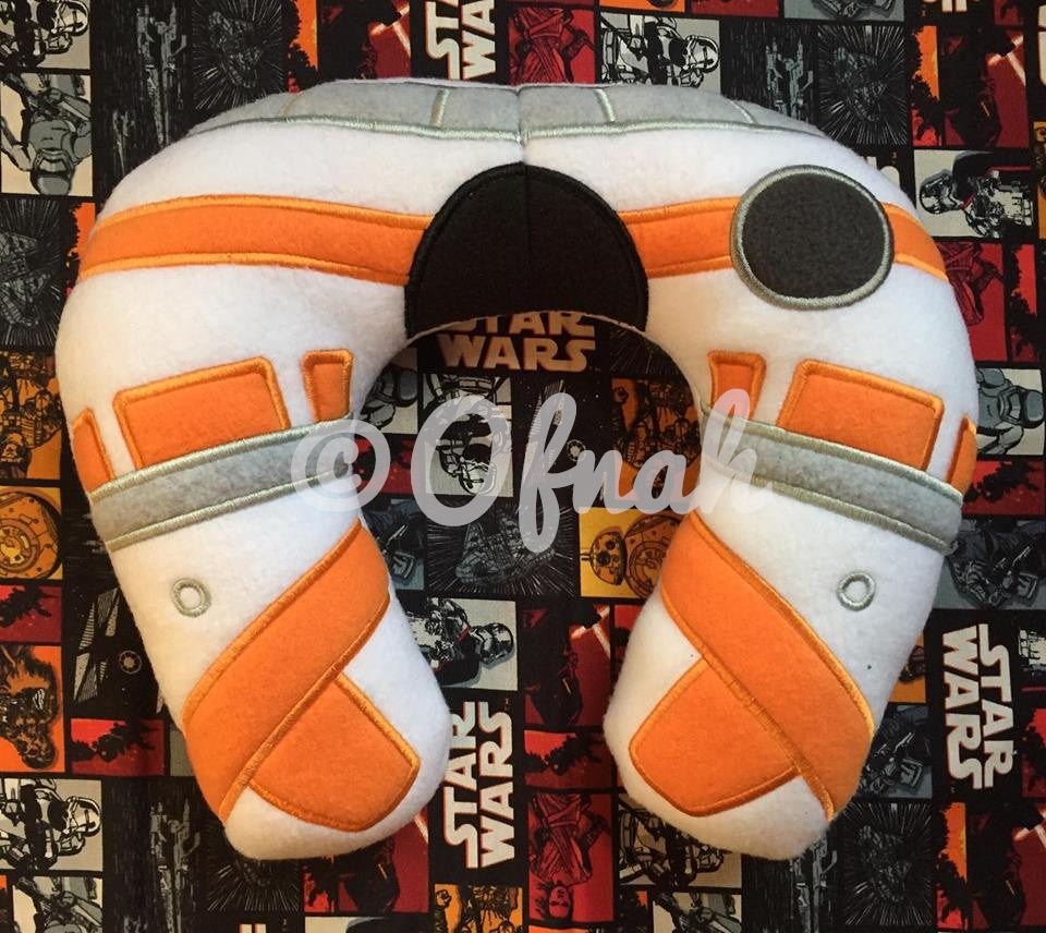 6X10 & 8X12 BB8 DROID INSPIRED NECK PILLOW