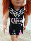 8X14 CHEERLEADER UNIFORM FOR 18 INCHES DOLL