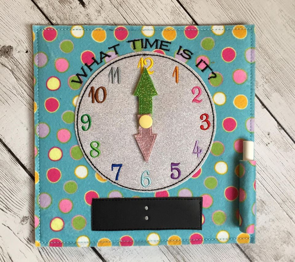 6X6 & 8X8 CLOCK TIME ITH QUIET BOOK PAGE