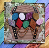 6X6 8X8 TREASURE CHEST ITH QUIET BOOK PAGE