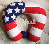 6X10 AND 8X12 USA FLAG NECK PILLOW