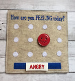 6X6 & 8X8 FEELINGS FACES ITH QUIET BOOK PAGE
