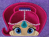 5X7 SHIMMER GENIE HEAD FOR HOODED TOWEL
