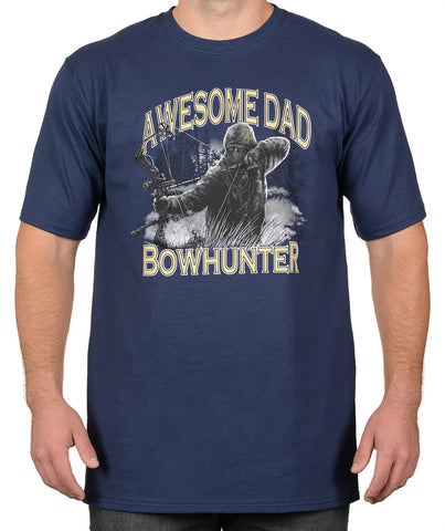 Navy Bowhunter T-Shirt - Awesome Dad