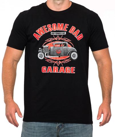 Black Hot Rod T-Shirt - Awesome Dad