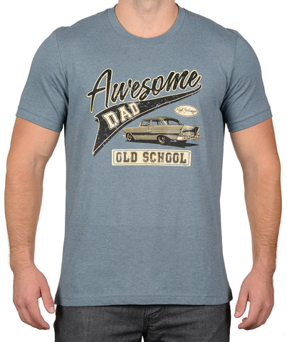 Heather Lake Old School Antique Car T-Shirt - Awesome Dad