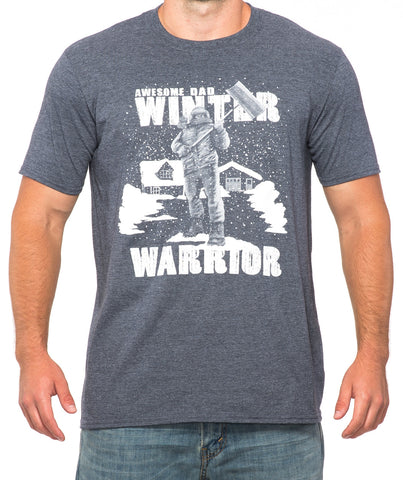 f9ae68d31 Awesome Dad Winter Warrior Snow Shovel T-Shirt