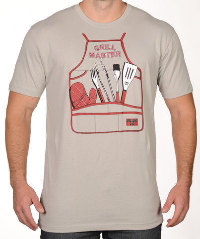 Tan Grill Master BBQ T-Shirt - Awesome Dad