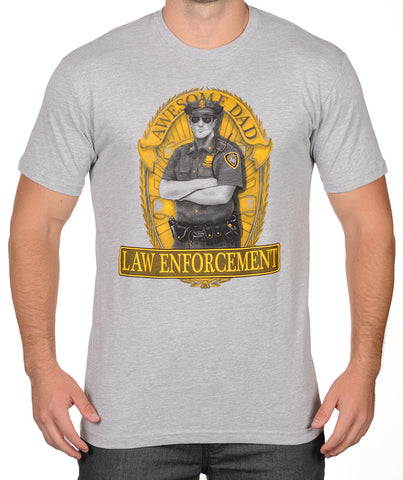 Sport Grey Law Enforcement T-Shirt - Awesome Dad