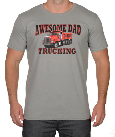 Ice Grey Dump Truck T-Shirt - Awesome Dad
