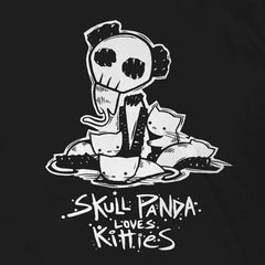 Skull Panda Loves Kitties