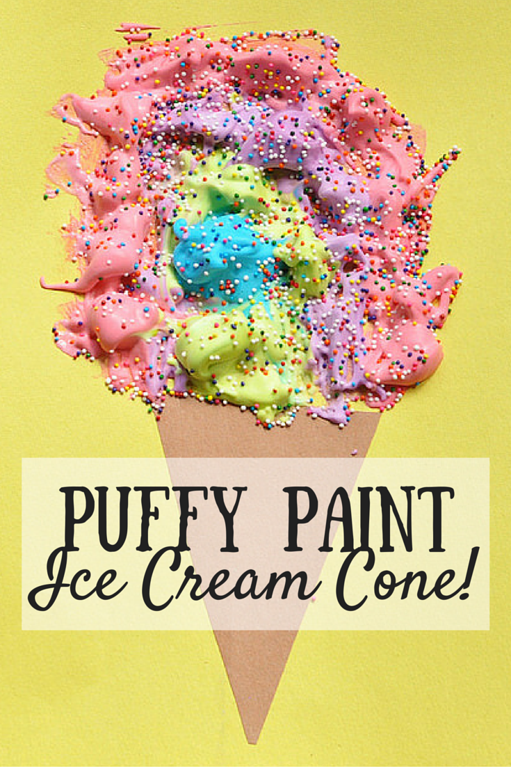 Puffy Paint Ice Cream Cone