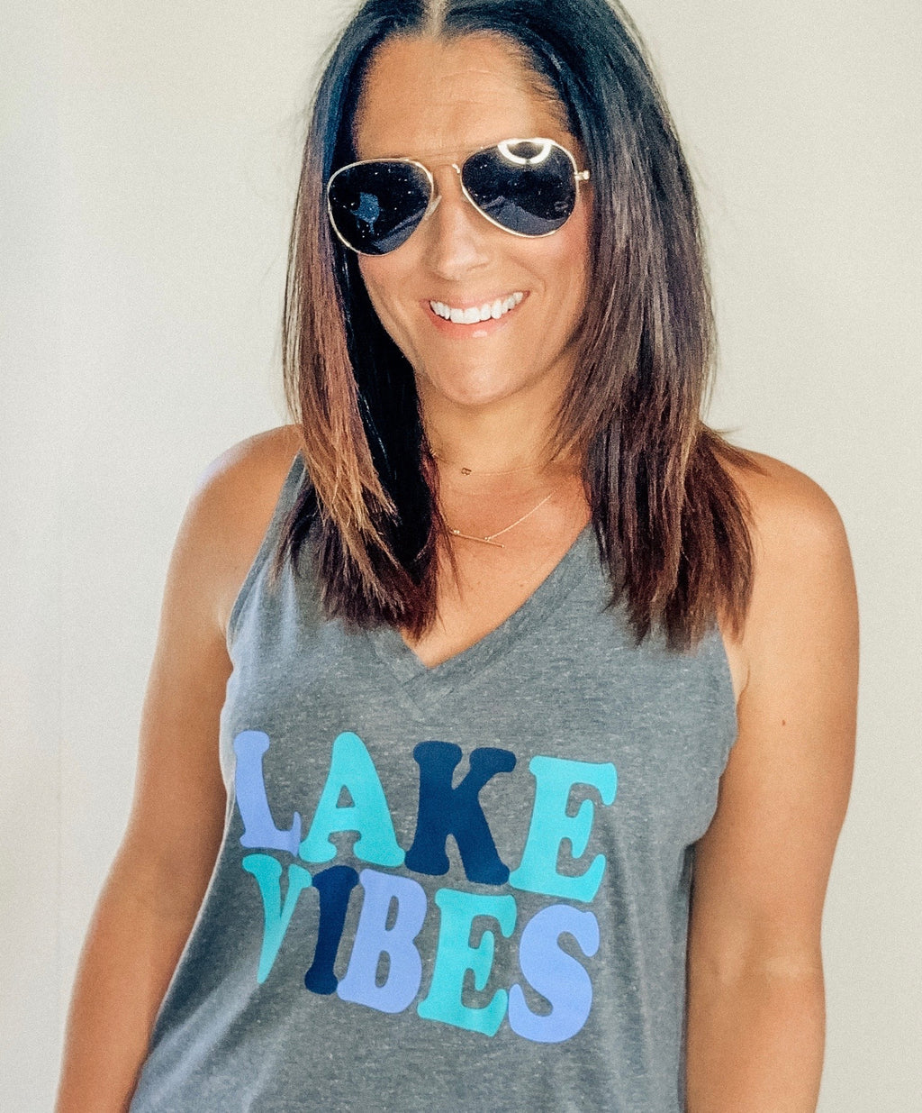 Lake Vibes Tank Top (multiple color options)