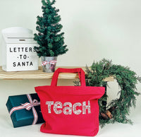 Teach Tote Red