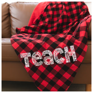 Teach Oversized Buffalo Plaid Blanket
