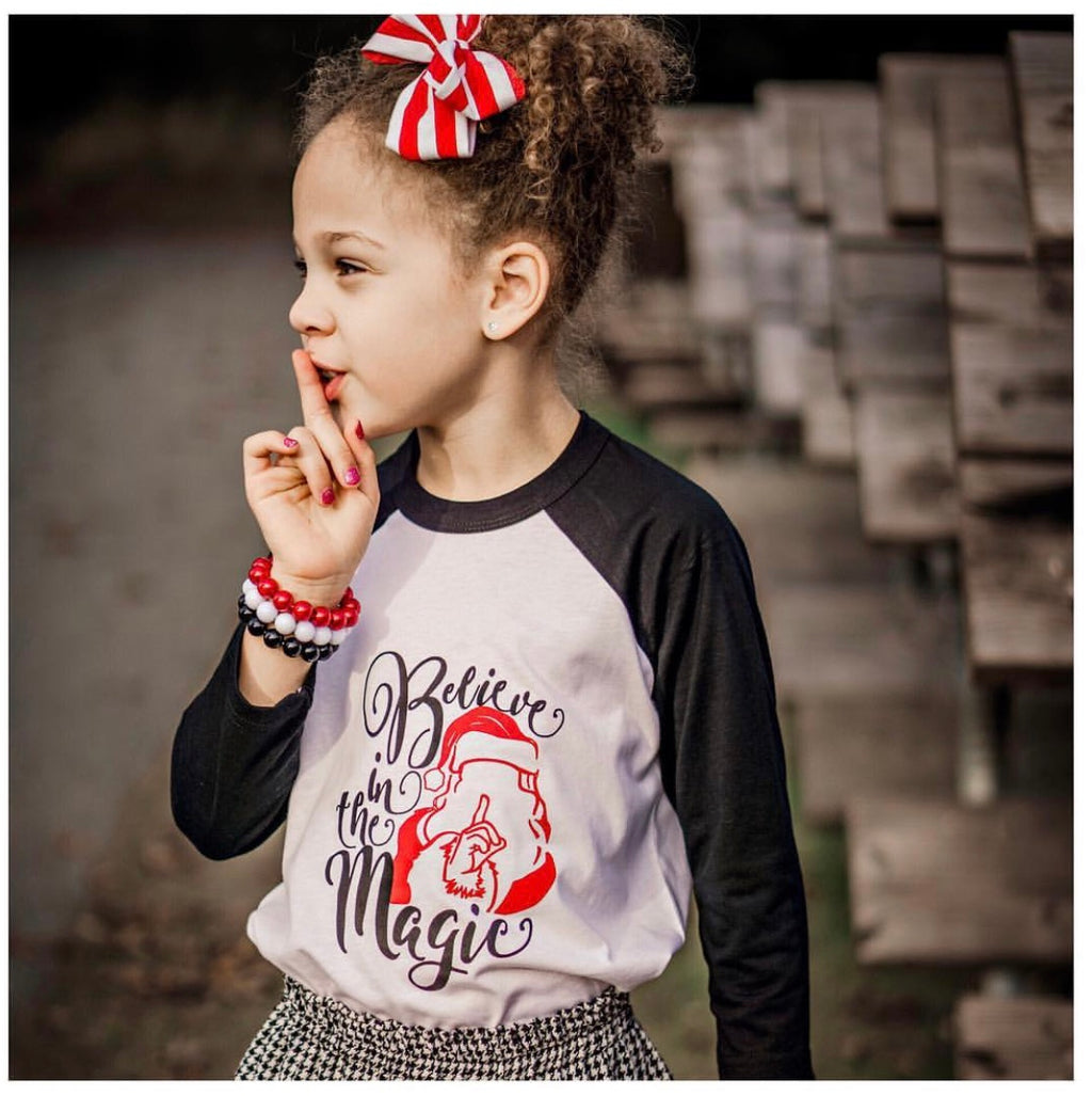 Believe in the Magic Kids Raglan