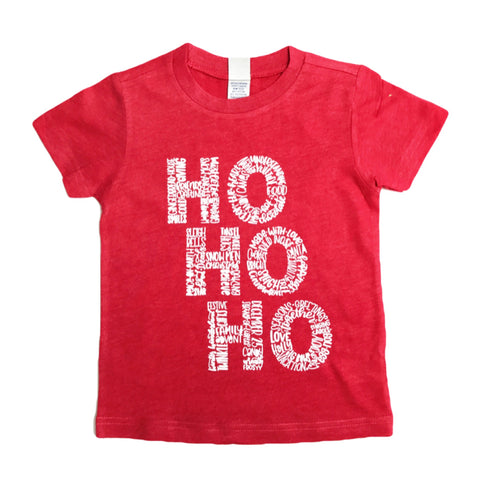 Ho Ho Ho Red Short Sleeve Kids Tee