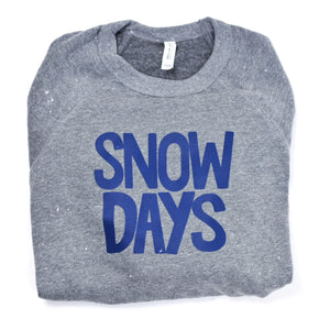 Snow Days Grey Adult Sweatshirt