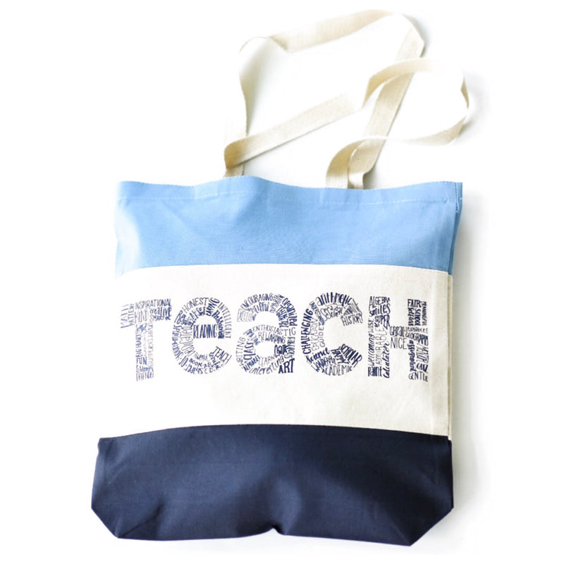 Teach Tote tri-color